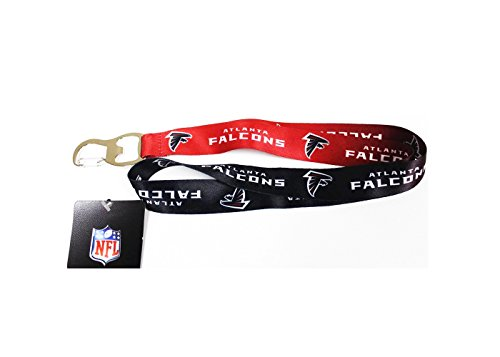 NFL Atlanta Falcons Ombre Lanyard, Black