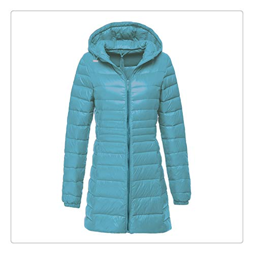 (Queixiw NewBang Brand Plus 7XL 6XL Ladies Coats Long Winter Warm Down Coat Ultra Light Down Jacket Women Women's Windbreakers Outerwear Blue M)