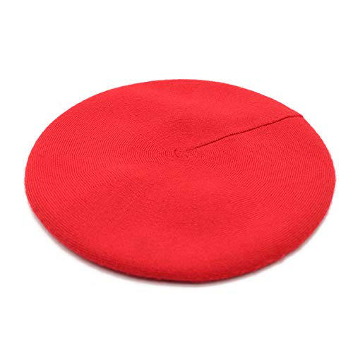 French Beret Hat,Reversible Solid Color Cashmere Beret Cap for Womens Girls Lady Adults -