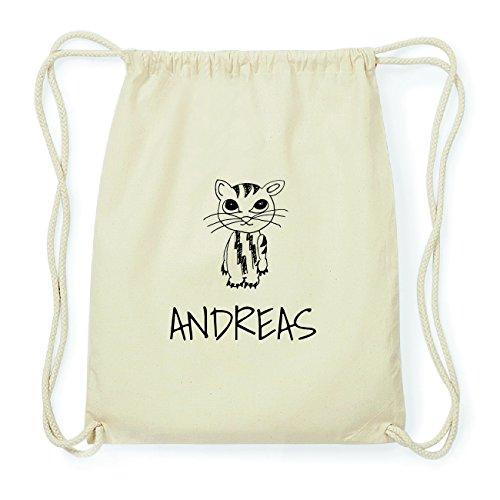 JOllipets ANDREAS Hipster Turnbeutel Tasche Rucksack aus Baumwolle Design: Katze