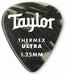 product image for Taylor Guitars DarkTone 351 Black Onyx Thermex Ultra, 6 Pack, 1.25 mm