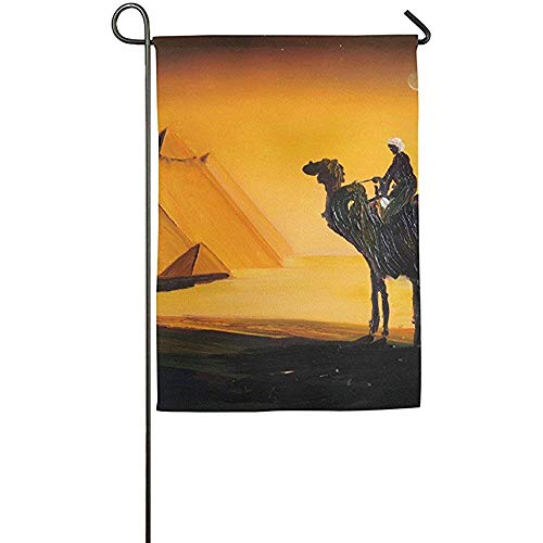 Junyuetime Egypt Pyramids Camel Garden Flag Indoor & Outdoor Decorative Flags for Parade Sports Game Family Party Wall Banner