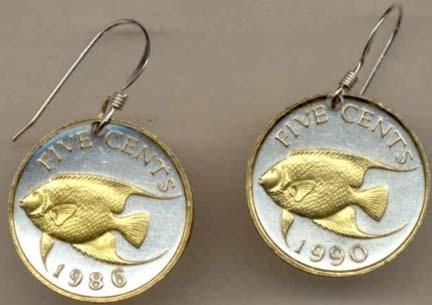 el FishÓ Two Tone Coin Earrings ()