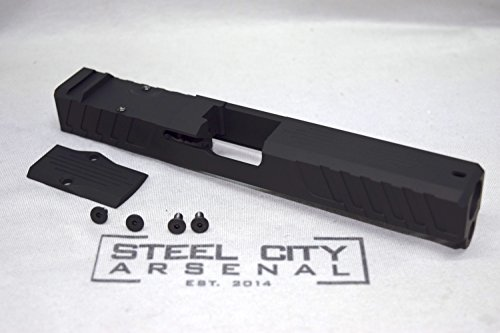 Steel City Arsenal Freedom Fighter Glock 17 Gen 3 Custom Milled Slide with RMR Cut & Cover Plate Black by Steel City Arsenal
