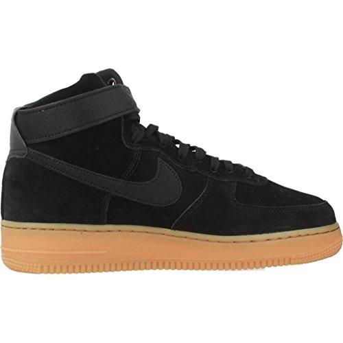 001 Hombre gum 1 para Brown Force Lv8 Suede Zapatillas Med Gimnasia High black '07 Nike Black de Air q7PfZf