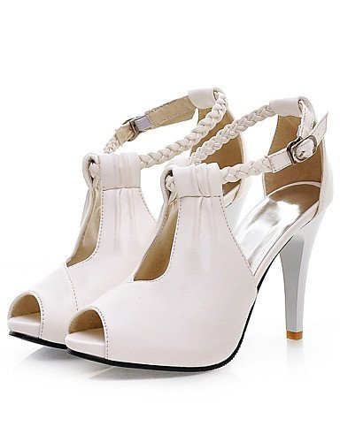 ShangYi Womens Shoes Leatherette Stiletto Heel Heels / Peep Toe Sandals  Office & Career / Dress ...