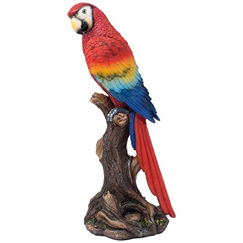 ue Decoration in Beach Bar & Nautical Décor Sculptures for Home or Office As Decorative Macaw and Bird Figurine Gifts (Macaw Sculpture)