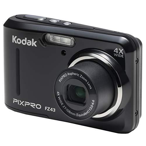 Kodak PIXPRO Friendly Zoom FZ43-BK 16MP Digital Camera with 4X Optical Zoom and 2.7″ LCD Screen (Black)