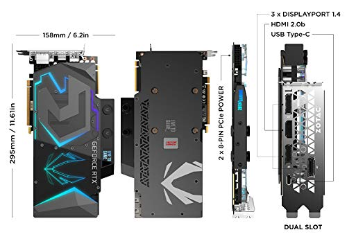 ZOTAC Gaming GeForce RTX 2080 Ti ArcticStorm 11GB GDDR6 352-bit Gaming Graphics Card with Powerboost, Pre-Installed Waterblock, Liquid-Cooling Ready, Spectra 2.0 LED Lighting ZT-T20810K-30P