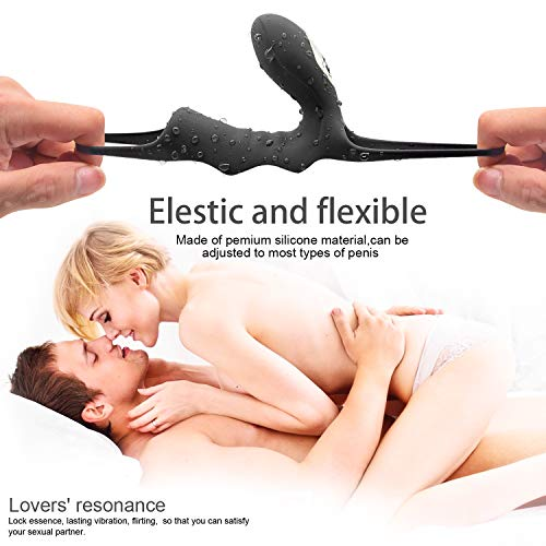 1480869bd49 Wireless Male Ring Massage with Remote Control Adult Toys Play Stimulators  Things for Men