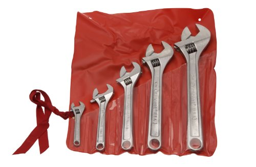 Crescent AC5 Adjustable Wrench Set Plated Finish in 4, 6, 8, 10 and 12-Inch 8' Chrome Finish Adjustable Wrench