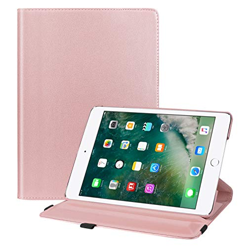 Fintie iPad 9.7 2018 2017 / iPad Air 2 / iPad Air Case - Multiple Angles Stand Smart Protective Cover with Auto Sleep Wake for iPad 9.7 inch (6th Gen, 5th Gen) / iPad Air 2 / iPad Air, Rose Gold