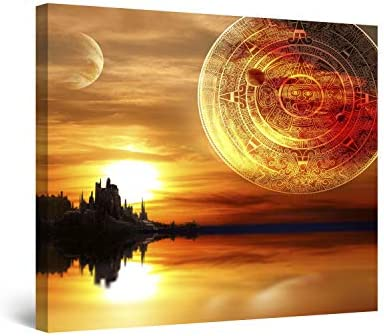 Startonight Canvas Wall Art Ancient Maya Civilization