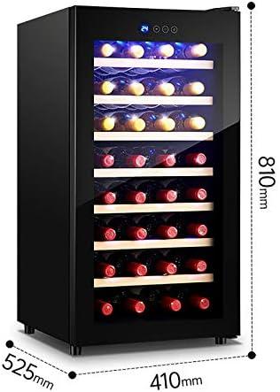 CLING Enfriador de Vino Refrigerador de 32 Botellas Frigorífico Empotrado o Independiente con luz de Bloqueo de Puerta de Vidrio Templado Hueco de Acero Inoxidable y Triple Capa 75 litros