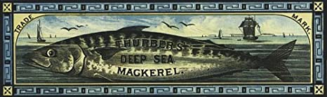 Wonderfulitems Cod Fish Thurber S Deep Sea Mackerel Ship 1882 Crate Labels 5 X 16 Image Size Vintage Poster Repro Amazon Ca Home Kitchen