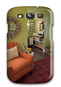 S3 Scratch-proof Protection Case Cover For Galaxy/ Hot Children8217s Bedroom With Orange Chair 038 Mirror Phone Case