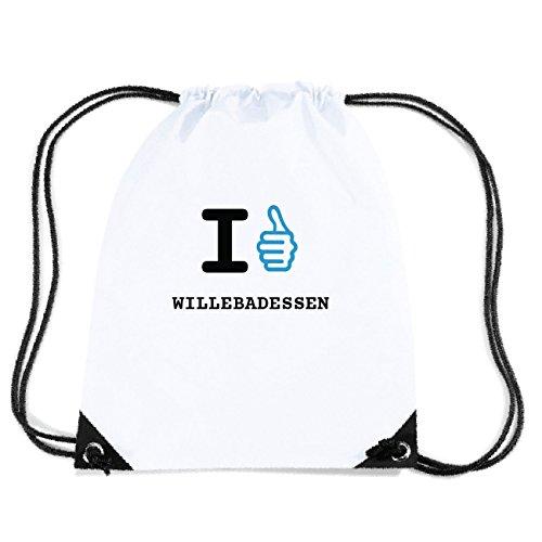 JOllify WILLEBADESSEN Turnbeutel Tasche GYM2659 Design: I like - Ich mag