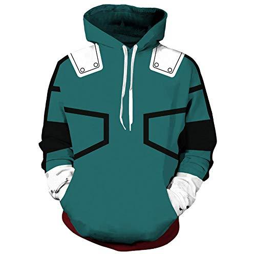 FANERR My Hero Deku Hoodie Sweatshirt Cosplay Costume (XL, Deku 2)