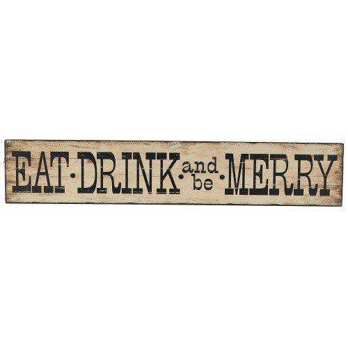 sc 1 st  Amazon.com & Amazon.com: Large Wooden EAT DRINK and Be MERRY Sign: Home u0026 Kitchen