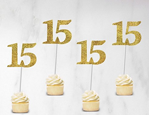 Quinceanera cupcake toppers - Birthday cupcake toppers set of 12 for $<!--$11.99-->
