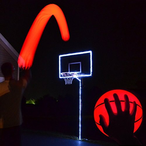 Light Up Basketball Hoop Kit with LED Basketball (White)