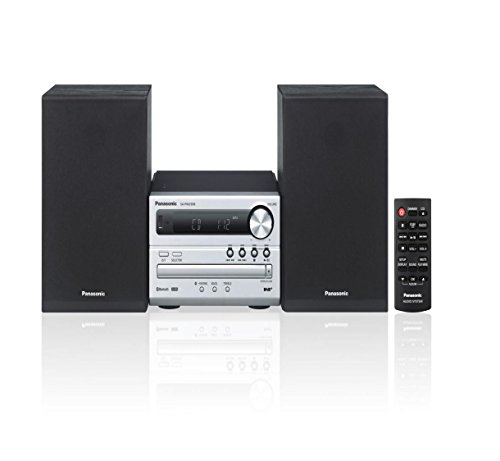 Panasonic Panasonic Sc-Pm250Eb-S,Cd Player,Bluetooth,Fm Tuner,Wireless Traditional Hi-Fi System - Silver