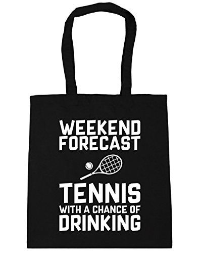 of a Drinking 42cm Forecast x38cm Beach 10 Shopping With Black Bag Tote Chance litres HippoWarehouse Gym Weekend Tennis 1YSnnR