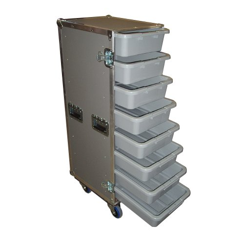 Drawer Workbox - 8 Small Tub - Drawer Heavy Duty 3/8 Ply ATA Case with Lid Table & Wheels by Roadie Products, Inc. (Image #1)