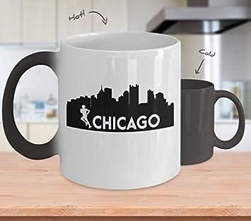 amazon com color changing mug chicago 26 2 miles marathon runner