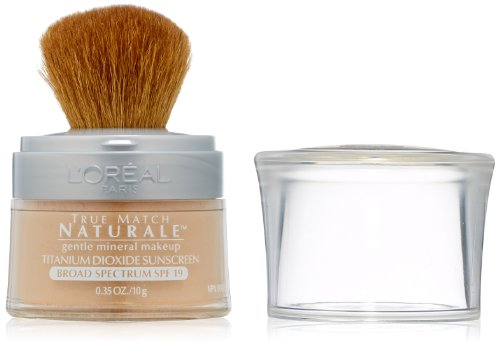 L'Oreal Paris True Match Naturale Mineral Foundation, Natural Beige, 0.35 Ounces