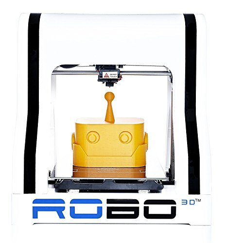 "Robo R1+ ABS/PLA Assembled 3D Printer, Big Build Volume 8""x9""x10""  for Educators and Innovators by ROBO 3D"
