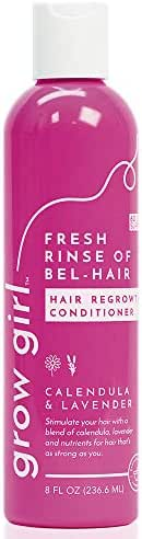 Grow Girl Fresh Rinse of Bel-Hair Hair Growth Conditioner | Sulfate-Free Paraben-Free | Thickening Formula | Stimulating Hair Loss Treatment for Women | Natural Ingredients, Lavender | 8 Oz