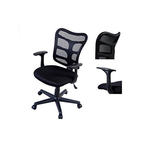 Modern Ergonomic Mid-Back Mesh Office Computer Chair Soft Sponge Upholstery 360 Degree Swivel Home Office Desk Task Executive #1511 (Manchester Swivel Desk Chair)