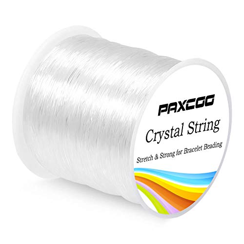 - Paxcoo 0.8mm Elastic String, Stretchy Bracelet String Crystal String Bead Cord for Bracelet, Beading and Jewelry Making (120m)