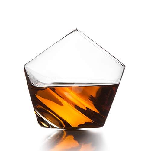 (Sempli Cupa-Rocks Clear Whiskey Glasses, Set of 2 in Gift Box)