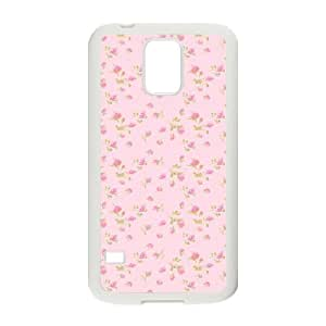 Pink Floral Unique Design Cover Case for SamSung Galaxy S5 I9600,custom case cover ygtg569962