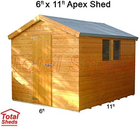 11 pies (3.3 m) X 6 Ft (1.8 M) cobertizo cobertizo caseta de jardín caseta de madera total cobertizos: Amazon.es: Jardín
