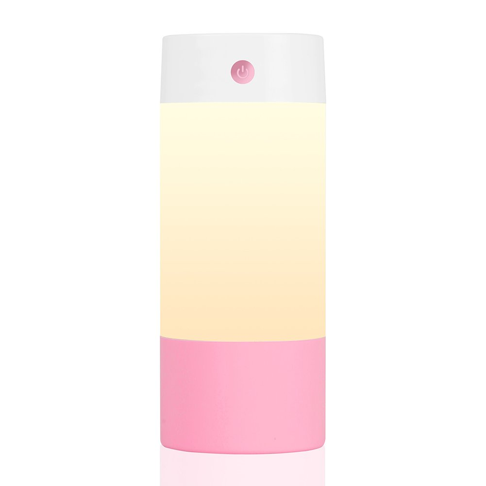 Sbode Cool Mist Humidifier, 250mL Office Desk Quiet Humidifiers for Babies Bedroom, Night Light Mode, USB Powered and Whisper Quiet for Travel Home Car(Pink)