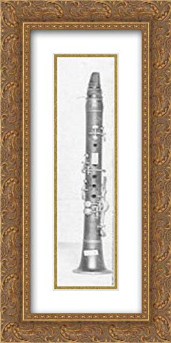 Johann Samuel Stengel - 20x40 Gold Ornate Frame and Double Matted Museum Art Print - Piccolo Clarinet in A-Flat
