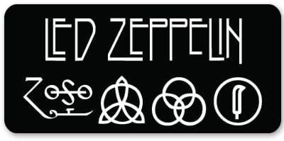 indoor//outdoor full color Led Zeppelin Zoso black bg Vinyl Sticker Decal