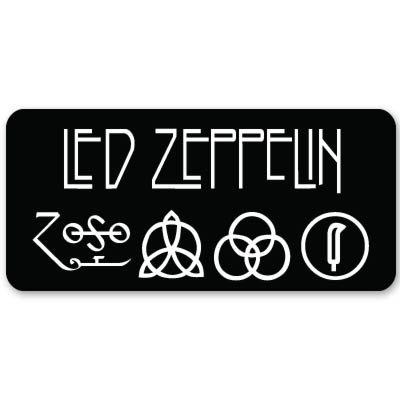 "Led Zeppelin heavy metal ZOSO Vynil Car Sticker Decal - 5"""
