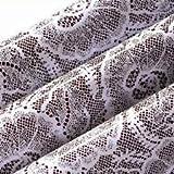 Bakers EZ way Chocolate Transfer Sheet: White Lace. 2 Sheets