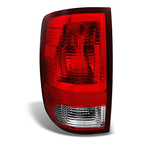 For 09-18 Dodge Ram 1500/2500/3500 Pickup Truck Rear Red Clear Tail Light TailLamp Brake Lamp Driver Left Side