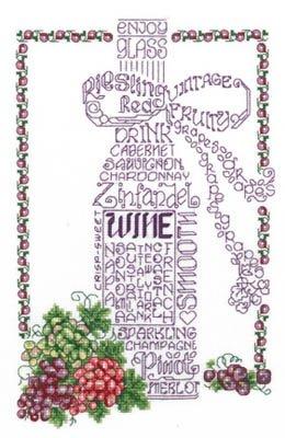 Let's Do Wine Cross Stitch Chart