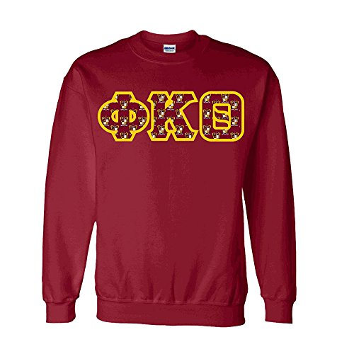Phi Kappa Theta Fraternity Crest Twill Letter Crewneck Sweatshirt 2X-Large ()