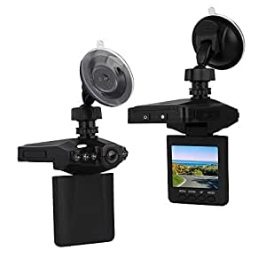"On Dash Video, Lecmal 2.5"" Dash Cam for Cars with Night Vision / HD IR Dash Cam 270 Degrees Rotatable Camera Video Recorder / Traffic Dashboard Camcorder Loop Recording-No Card (INK)"