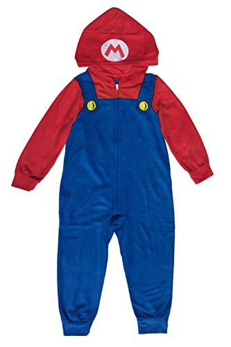 AME Sleepwear Super Mario Boys Costume Union Suit Pajama, Blue, 14-16