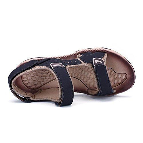 Estate Sandali Casual Piede Gli Maschile Confortevole su Nero per Sandali Scarpe Qianliuk Uomini twqC00
