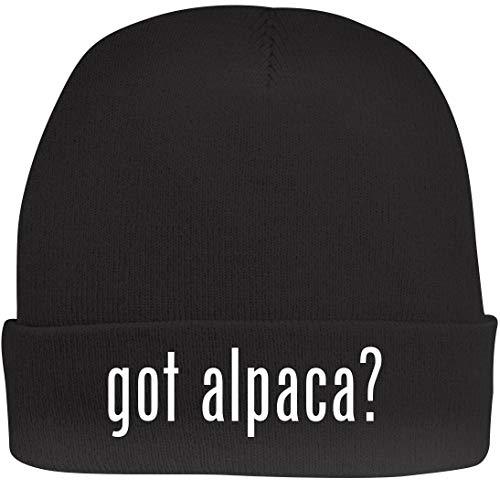 Shirt Me Up got Alpaca? - A Nice Beanie Cap, Black, OSFA