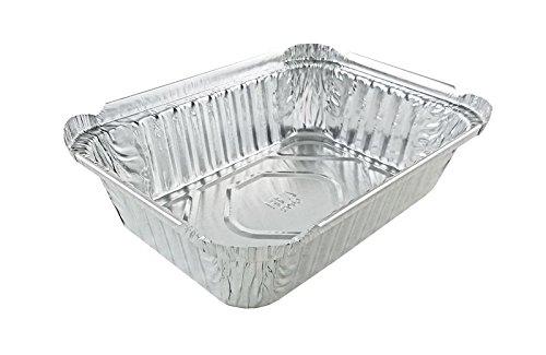 Handi-Foil of America 1-1/2 lb. Oblong Deep Aluminum Foil Pan 50/Pk - No Lids (pack of 50)
